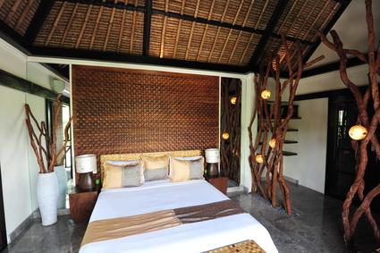 Schlafzimmer In Einem Bungalow Thailand